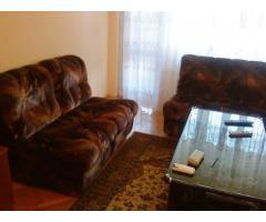 Ъглов диван с два фотьойла