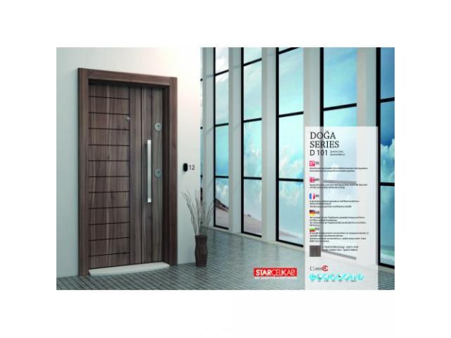 Блиндирани врати с облицовка от МДФ същия цвят